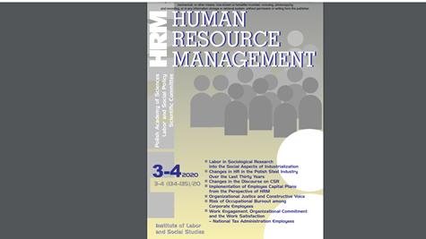 Zarzadzanie Zasobami Ludzkimi - okladka czasopisma w ktorym opublikowany jest artykul naszego autorstwa.